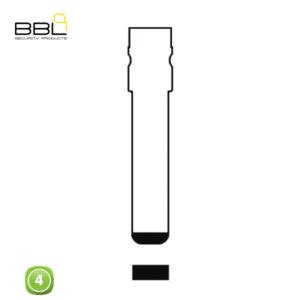BBL Key Shells Fiat Shape 4 Button KSC-FI-31B
