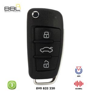BBL Remote Audi Shape 3 Button REMC-AUDI-09