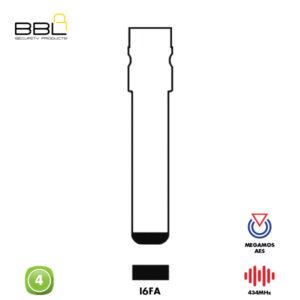 BBL Remote Fiat Shape 4 Button REMC-FI-15