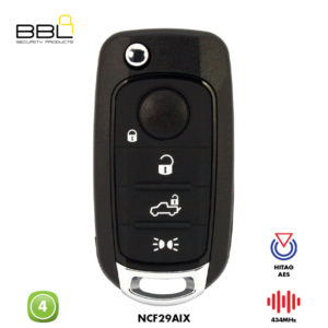 BBL Remote Fiat Shape 4 Button REMC-FI-16