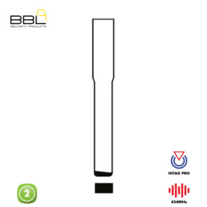 BBL Remote Ford Shape 2 Button REMC-FORD-17A