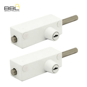 BBL Spring Loaded Door Bolt Patio Lock BBL402WH-2